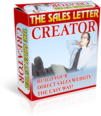 Pay for the sales letter creator