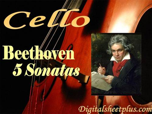 Pay for 5 Sonatas for Cello by Beethoven partituras en formato pdf