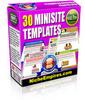 Thumbnail 30 Mini Site Templates MRR.zip