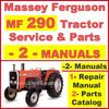 Thumbnail Massey Ferguson MF290 Tractor Service Manual & Parts Manual -2- Manuals - DOWNLOAD