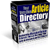 Thumbnail *NEW*  Article Site Directory  - Resale Rights | Your Very Own Article Directory Script