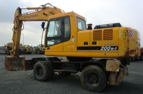 Pay for Hyundai R200W-7 Wheel Excavator Service Repair Workshop Manual ...