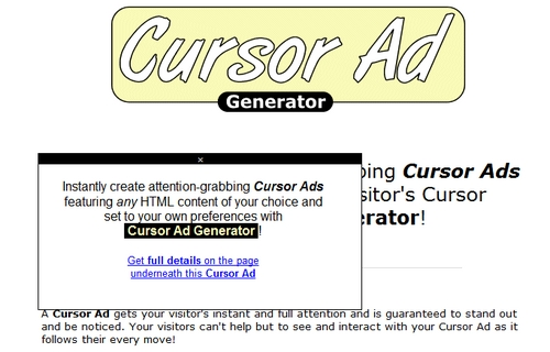 Pay for Cursor Ad Generator Software