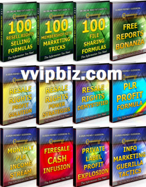 Pay for Info Marketing Unrestricted PLR Ebooks Package - Private Label Profits
